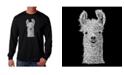 LA Pop Art Men's Word Art Long Sleeve T-Shirt- Llama