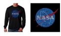LA Pop Art Men's Word Art Long Sleeve T-Shirt- Nasa Meatball Logo