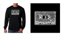 LA Pop Art Men's Word Art Long Sleeve T-Shirt - The 80's