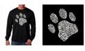LA Pop Art Men's Word Art Long Sleeve T-Shirt - Dog Paw