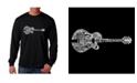 LA Pop Art Men's Word Art Long Sleeve T-Shirt - Country Guitar