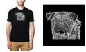 LA Pop Art Men's Premium Word Art T-Shirt - Pug Face