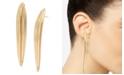 Robert Lee Morris Soho Sculptural Leaf Stick Earrings