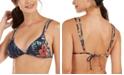 Roxy Juniors' Local Mind Printed Tiki Triangle Bikini Top