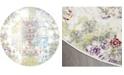 "Global Rug Designs Jano JAN02 Ivory 7'10"" Round Area Rug"
