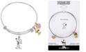 Peanuts Unwritten Snoopy & Woodstock Bangle Bracelet in Tri-Tone Stainless Steel