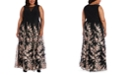 Morgan & Company Plus Size Embroidered Dress