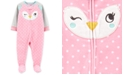 Carter's Baby Girls Fleece Owl Footie Pajamas