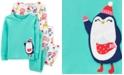 Carter's Toddler Girls 4-Pc. Cotton Snug-Fit Penguin Pajamas Set