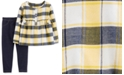 Carter's Baby Girls 2-Pc. Plaid Flannel Top & Jeggings Set