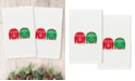 Linum Home Christmas Sweaters Embroidered 100% Turkish Cotton 2-Pc. Hand Towel Set