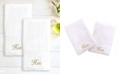 """Linum Home 100% Turkish Cotton """"His"""" and """"His"""" 2-Pc. Hand Towel Set"""