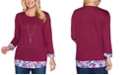 Alfred Dunner Autumn Harvest Layered-Look Top