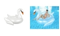 "Northlight 72.25"" Inflatable White Giant Swan Swimming Pool Ride-On Float Toy"