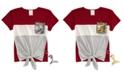 Belle Du Jour Big Girls Flip Sequin Pocket T-Shirt & Mermaid Keychain