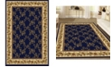 """KM Home CLOSEOUT! 1427/1742/NAVY Navelli Blue 7'9"""" x 9'6"""" Area Rug"""