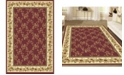 """KM Home CLOSEOUT! 1427/1732/BURGUNDY Navelli Red 7'9"""" x 9'6"""" Area Rug"""