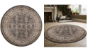 """KM Home CLOSEOUT! 3812/1014/BROWN Gerola Brown 5'3"""" x 5'3"""" Round Area Rug"""