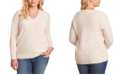 Jessica Simpson Trendy Plus Size Seana V-Neck Ribbed Tunic Sweater
