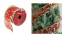 """Northlight Pack of 12 Bright Red and Glittering Gold Reindeer Wired Christmas Craft Ribbon Spools - 2.5"""" x 120 Yards Total"""