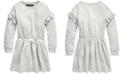 Polo Ralph Lauren Little Girls French Terry Ruffle Dress
