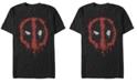 Fifth Sun Marvel Men's Deadpool Splatter Icon, Short Sleeve T-Shirt