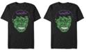 Fifth Sun Marvel Men's Classic Hulk Text Big Face, Short Sleeve T-Shirt
