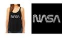 LA Pop Art Women's Premium Word Art Flowy Tank Top- Worm Nasa