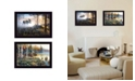 "Trendy Decor 4U Moose Collection By Jim Hansen, Printed Wall Art, Ready to hang, Black Frame, 20"" x 14"""