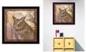 "Trendy Decor 4U Trendy Decor 4U Owl By Barb Tourtillotte, Printed Wall Art, Ready to hang, Black Frame, 14"" x 14"""