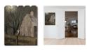 "Trendy Decor 4U Trendy Decor 4U Midnight Moon by Billy Jacobs, Printed Wall Art on a Wood Picket Fence, 16"" x 20"""