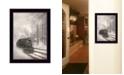 "Trendy Decor 4U Snowy Locomotive by Lori Deiter, Ready to hang Framed Print, Black Frame, 14"" x 20"""