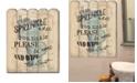 "Trendy Decor 4U If You Sprinkle by Debbie DeWitt, Printed Wall Art on a Wood Picket Fence, 16"" x 20"""