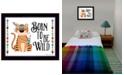 "Trendy Decor 4U Born to be Wild By Susan Boyer, Printed Wall Art, Ready to hang, Black Frame, 14"" x 18"""