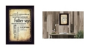 """Trendy Decor 4U Father Says By Susan Ball, Printed Wall Art, Ready to hang, Black Frame, 14"""" x 10"""""""