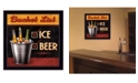 "Trendy Decor 4U Trendy Decor 4U Bucket List By Mollie B., Printed Wall Art, Ready to hang, Black Frame, 14"" x 14"""