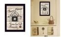 """Trendy Decor 4U Time for Friends by Millwork Engineering, Ready to hang Framed Print, Black Frame, 10"""" x 14"""""""