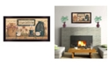 """Trendy Decor 4U It's Always Good to Be Home By Mary June, Printed Wall Art, Ready to hang, Black Frame, 32"""" x 18"""""""