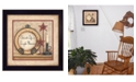 """Trendy Decor 4U Simple Pleasures By Mary June, Printed Wall Art, Ready to hang, Black Frame, 14"""" x 14"""""""