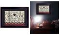 "Trendy Decor 4U Bathroom by Linda Spivey, Ready to hang Framed Print, Black Frame, 14"" x 10"""