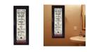 "Trendy Decor 4U Bath Rules By Linda Spivey, Printed Wall Art, Ready to hang, Black Frame, 10"" x 26"""