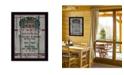 "Trendy Decor 4U Cabin Rules by Linda Spivey, Ready to hang Framed Print, Black Frame, 14"" x 20"""