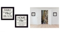 "Trendy Decor 4U Trendy Decor 4U Family 2-Piece Vignette by Cindy Jacobs, Black Frame, 14"" x 14"""