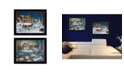 """Trendy Decor 4U Home for the Holidays Collection By Jim Hansen, Printed Wall Art, Ready to hang, Black Frame, 18"""" x 14"""""""