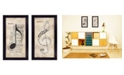 """Trendy Decor 4U Music Collection By Marla Rae, Printed Wall Art, Ready to hang, Black Frame, 22"""" x 20"""""""