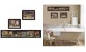 Trendy Decor 4U Trendy Decor 4U COUNTRY BATH II 3-Piece Vignette by Pam Britten, Black Frame Collection
