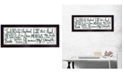 """Trendy Decor 4U The Lord is My Shepherd by Annie LaPoint, Ready to hang Framed Print, Black Frame, 20"""" x 8"""""""