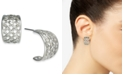 "Charter Club Silver-Tone Small Basketweave Hoop Earrings, .75"", Created for Macy's"