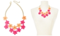 "INC International Concepts INC Gold-Tone Resin Flower Statement Necklace, 19"" + 3"" extender, Created For Macy's"