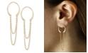 Macy's Horseshoe Chain Drop Earrings Set in 14k Gold
